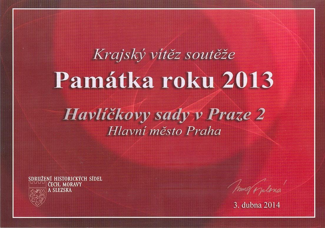 Krajský vítěz soutěže: Památka roku 2013