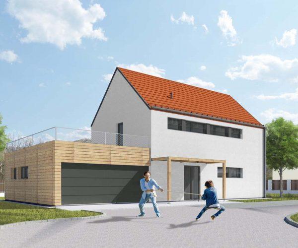 Výstavba rodinných domů Česspol – Otvovice - vizualizace