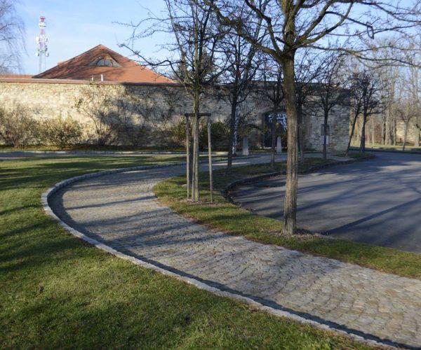 Obnova cestní sítě Petřín, Růžový sad